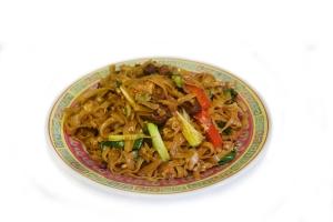 Лапша рисовая с уткой и овощами (400г)