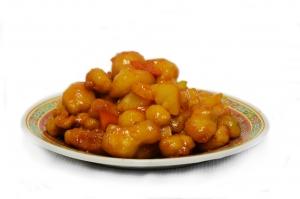 Курица с ананасом в кисло-сладком соусе (350г)