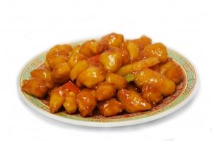 Свинина с ананасом в кисло-сладком соусе (350г)